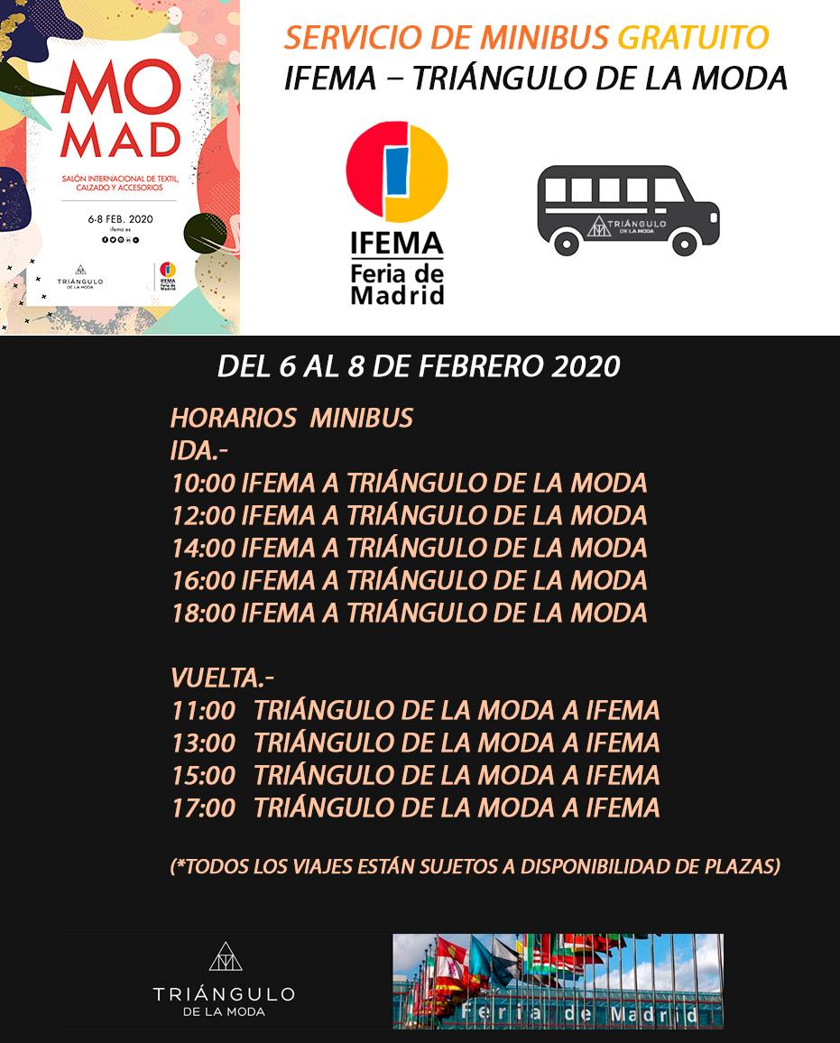 minibus gratuito IFEMA - Triangulo de la Moda
