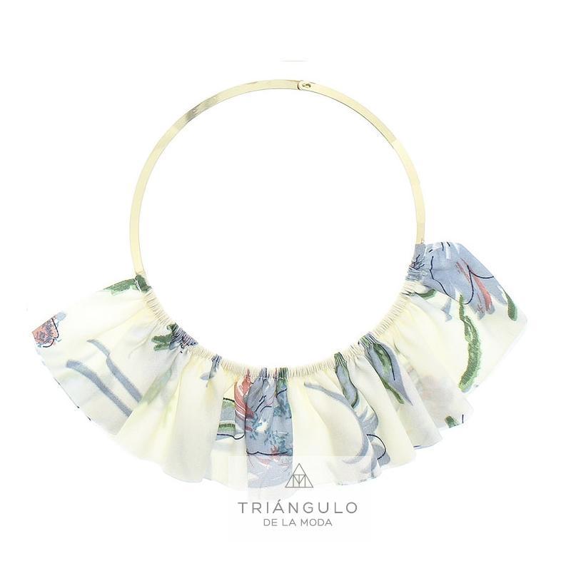 Tienda online del Triangulo de la Moda Gargantilla abanico tela estampada