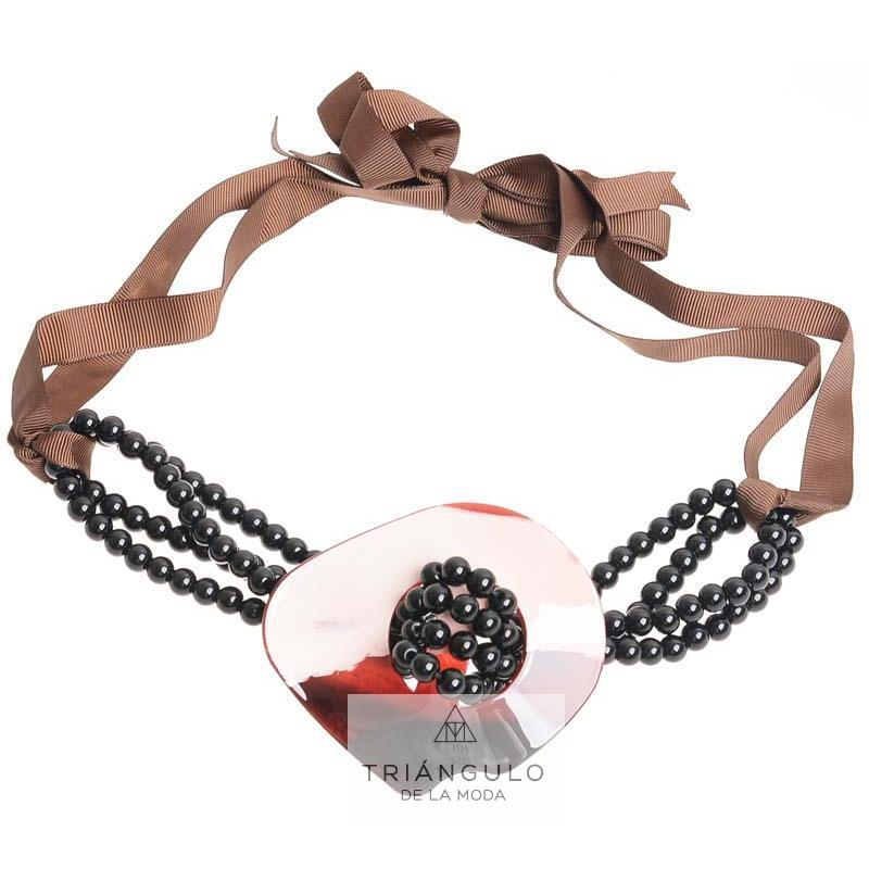 Tienda online del Triangulo de la Moda Gargantilla bolas resina