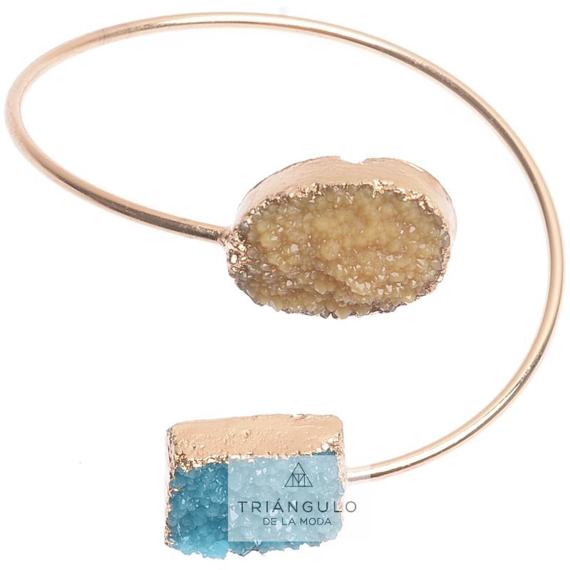 Tienda online del Triangulo de la Moda Pulsera ajustable resina imitación mineral