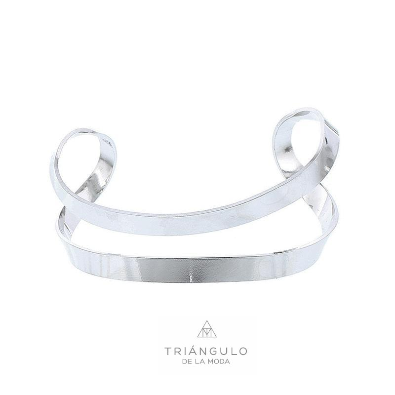 Tienda online del Triangulo de la Moda Pulsera abierta rígida metal minimalista