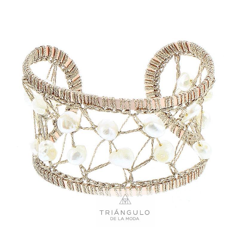 Tienda online del Triangulo de la Moda Pulsera ajustable perlas cultivadas
