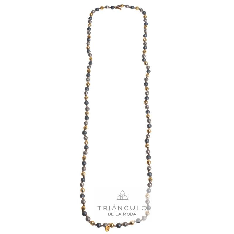 Tienda online del Triangulo de la Moda Collar largo/pulsera cristales facetados