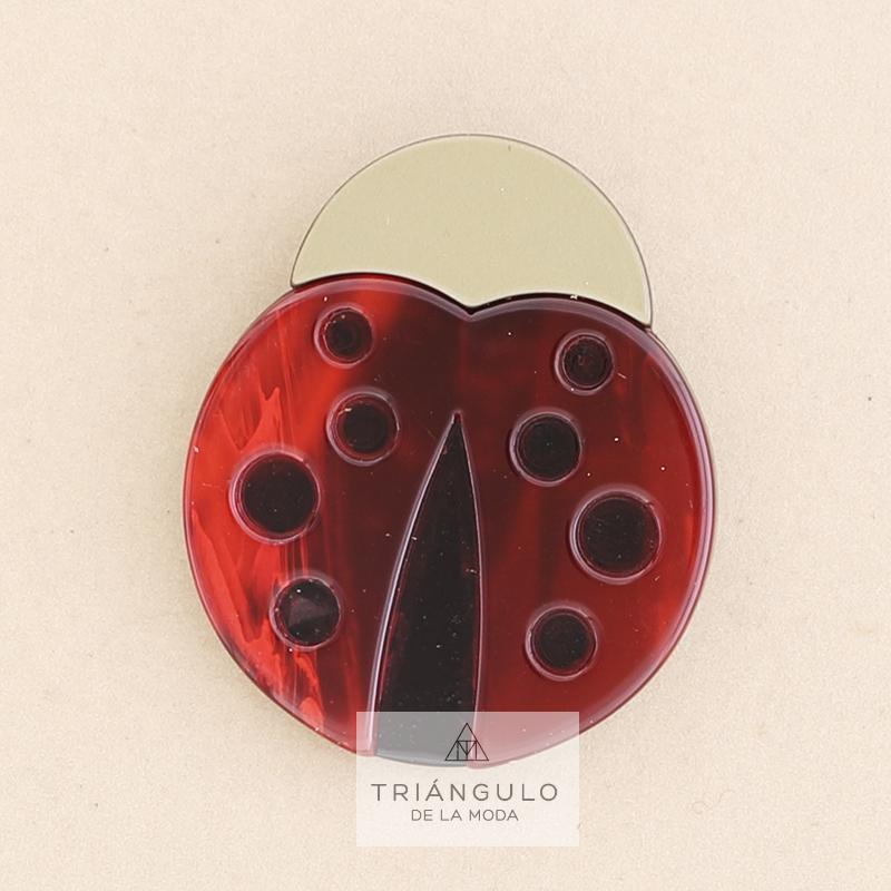 Tienda online del Triangulo de la Moda Broche mariquita resina