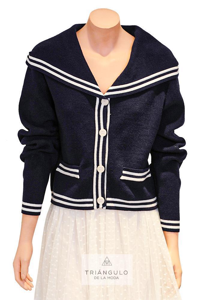 Tienda online del Triangulo de la Moda Chaqueta Punto cuello marinero