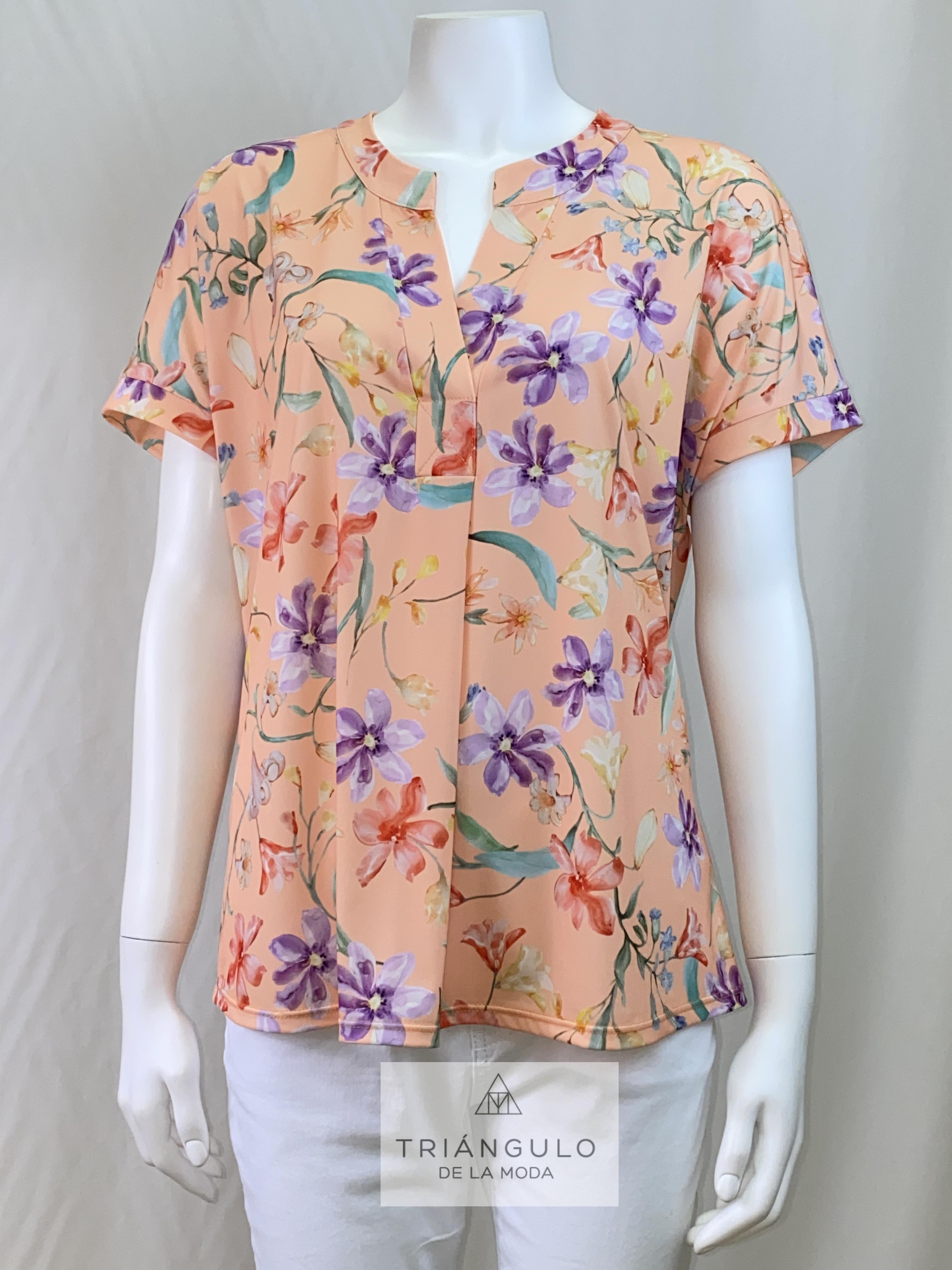 Tienda online del Triangulo de la Moda blusa punto estampada