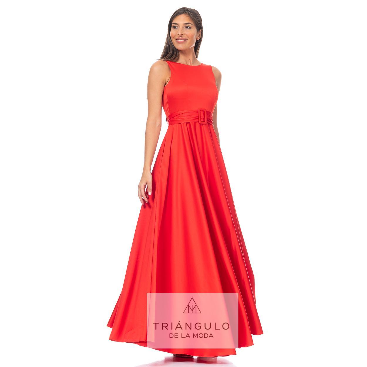 Tienda online del Triangulo de la Moda VESTIDO LARGO DE RASO