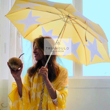 Tienda online del Triangulo de la Moda PARAGUAS AGATHA NIÑA PONGEE ESTRELLA MANGO GANCHO