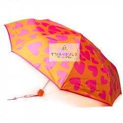 Tienda online del Triangulo de la Moda PARAGUAS AGATHA MUJER PONGEE CORAZONES PLEGABLE POMO