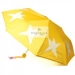 Tienda online del Triangulo de la Moda PARAGUAS AGATHA MUJER PONGEE ESTRELLAS PLEGABLES POM