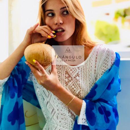 Tienda online del Triangulo de la Moda FULAR AGATHA PRINT NUBES PEQUEÑAS
