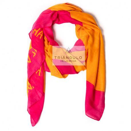 Tienda online del Triangulo de la Moda FULAR AGATHA PRINT CORAZONES GRANDES