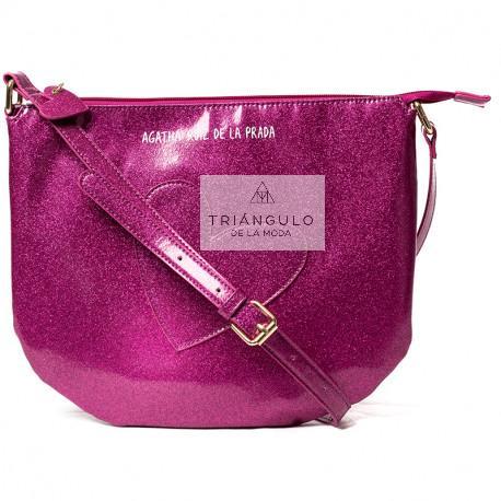 Tienda online del Triangulo de la Moda BANDOLERA AGATHA GRANDE CORAZON MAGENTA