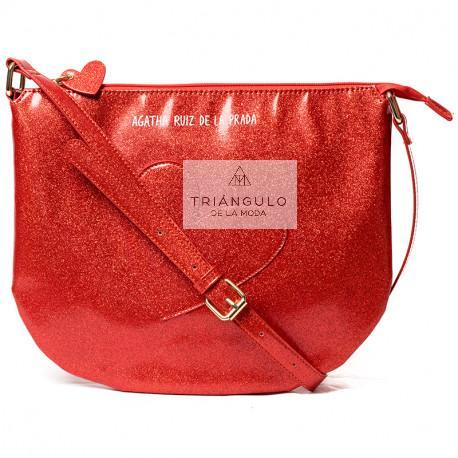 Tienda online del Triangulo de la Moda BANDOLERA AGATHA GRANDE CORAZON ROJO