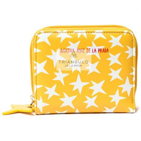 Tienda online del Triangulo de la Moda BILLETERO AGATHA PEQUEÑO ESTRELLA FONDO AMARILLO