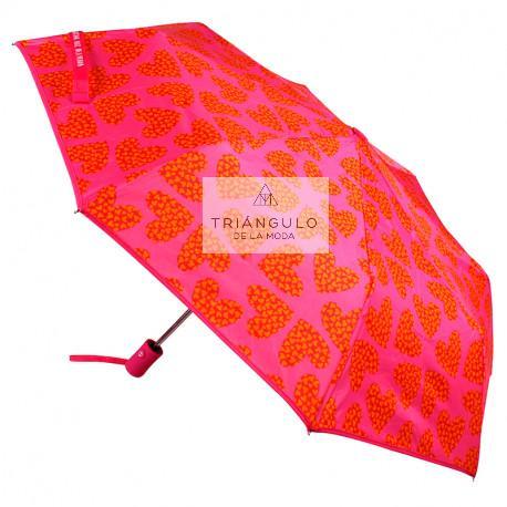 Tienda online del Triangulo de la Moda PARAGUAS PREMIUM PLEGABLE AUTOMATICO AGATHA CORAL
