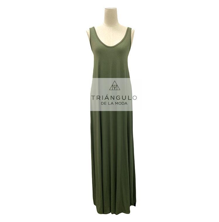 Tienda online del Triangulo de la Moda Vestido largo liso