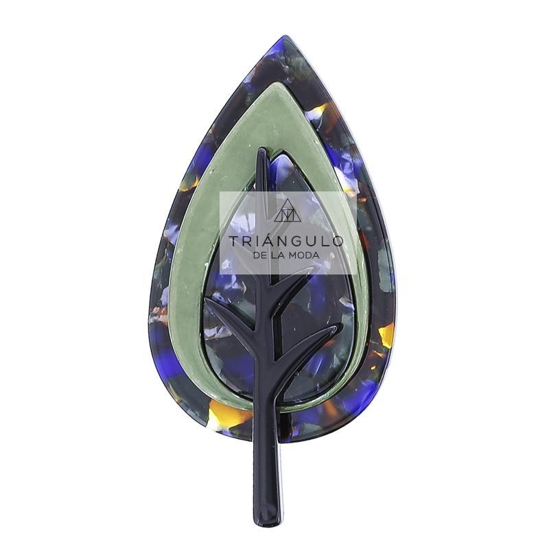 Tienda online del Triangulo de la Moda Broche árbol estampado resina