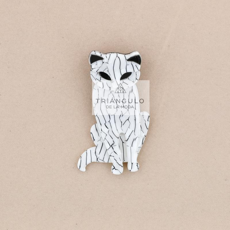 Tienda online del Triangulo de la Moda Broche gatito resina