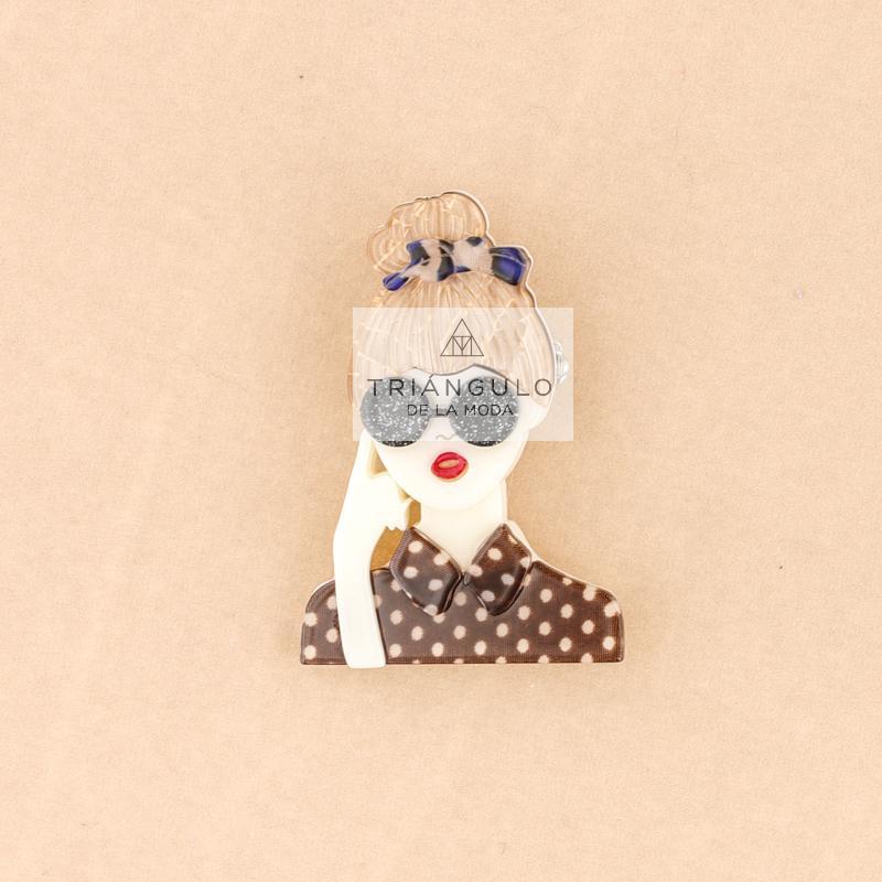 Tienda online del Triangulo de la Moda Broche resina chica