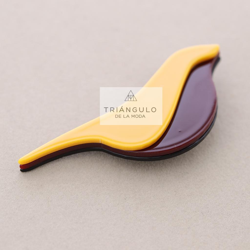 Tienda online del Triangulo de la Moda Broche pajarito bicolor resina