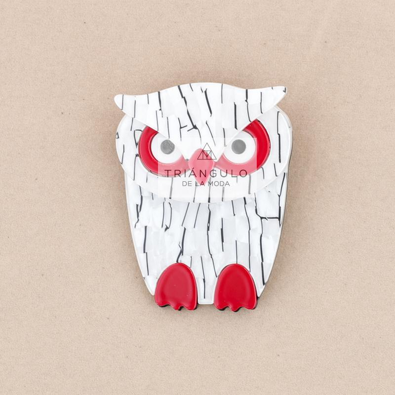 Tienda online del Triangulo de la Moda Broche búho resina