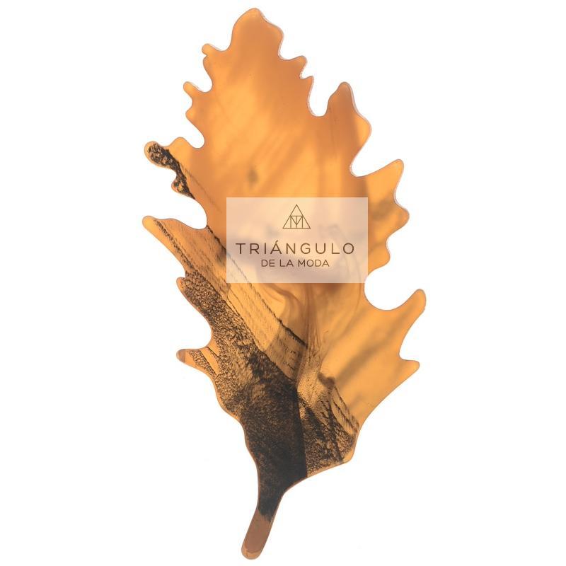 Tienda online del Triangulo de la Moda Broche hoja resina