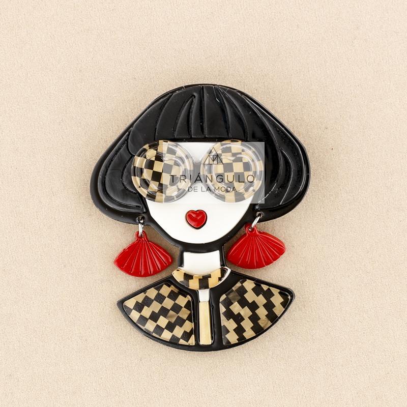 Tienda online del Triangulo de la Moda Broche resina mujer