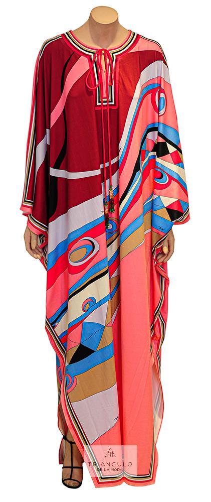 Tienda online del Triangulo de la Moda Vestido Largo Kaftán Etampado Pucci