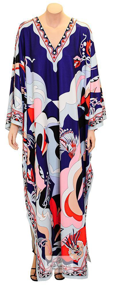 Tienda online del Triangulo de la Moda Vestido Largo Kaftán multicolor