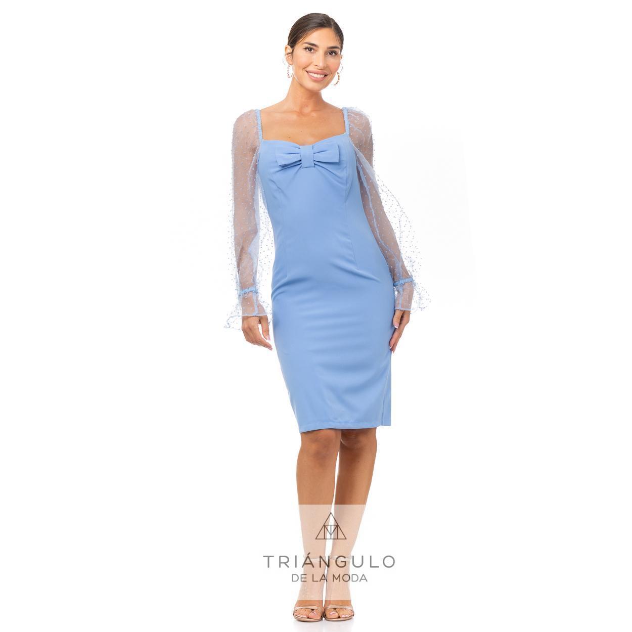 Tienda online del Triangulo de la Moda VESTIDO CORTO MANGAS DE ORGANZA
