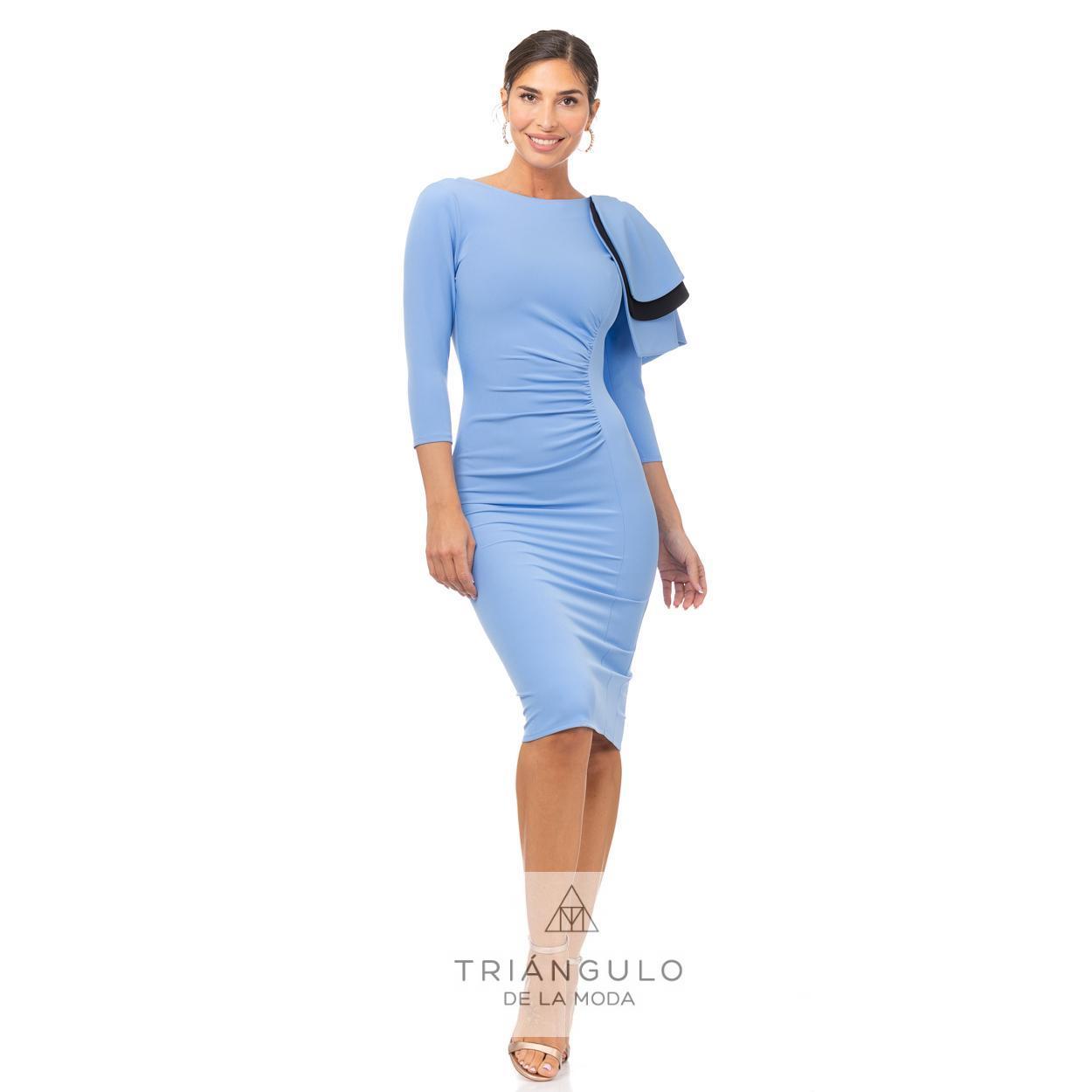 Tienda online del Triangulo de la Moda VESTIDO HOJAS EN HOMBRO