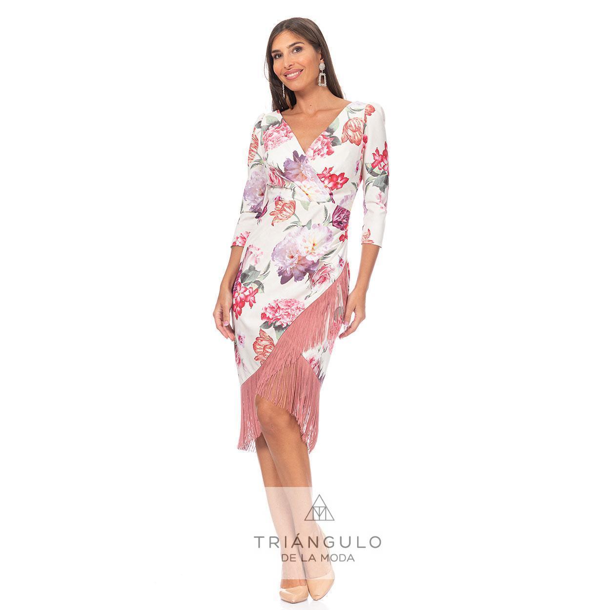 Tienda online del Triangulo de la Moda VESTIDO CRUZADO FLECOS