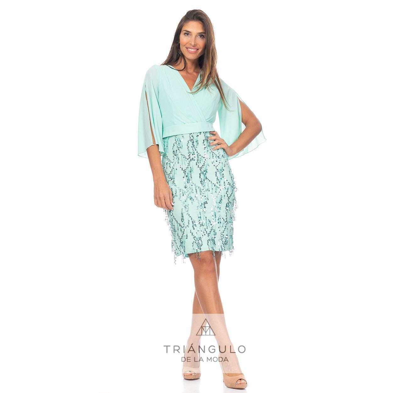 Tienda online del Triangulo de la Moda VESTIDO GASA FALDON LENTEJUELAS