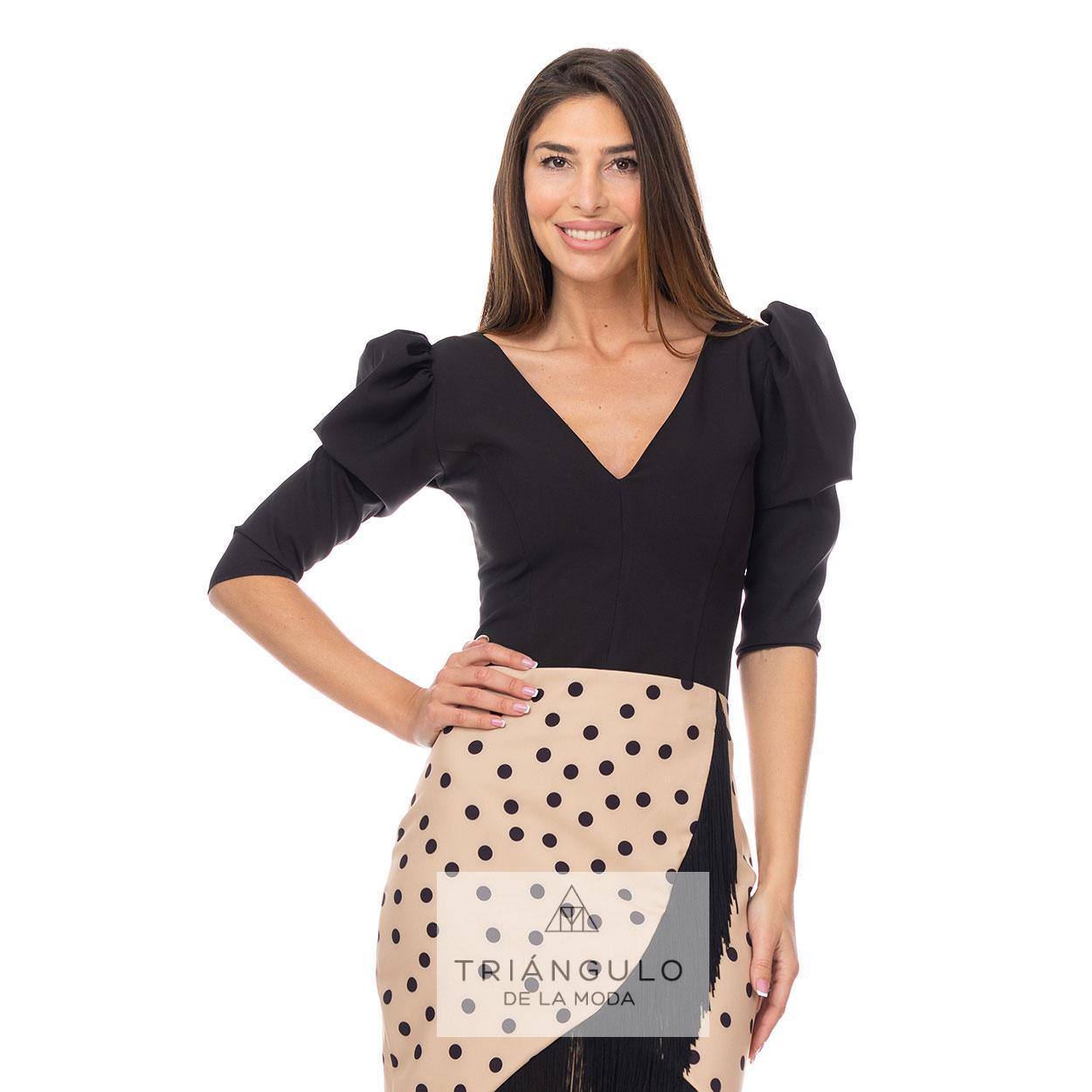 Tienda online del Triangulo de la Moda TOP 3/4 ESCOTE PICO
