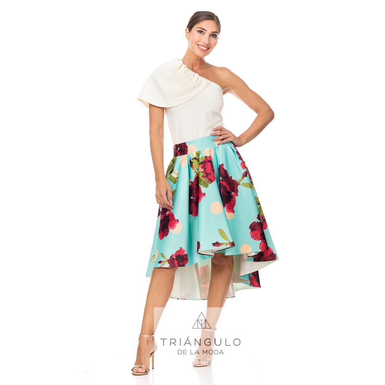 Tienda online del Triangulo de la Moda FALDA CORTA DE COLA ESTAMPADA