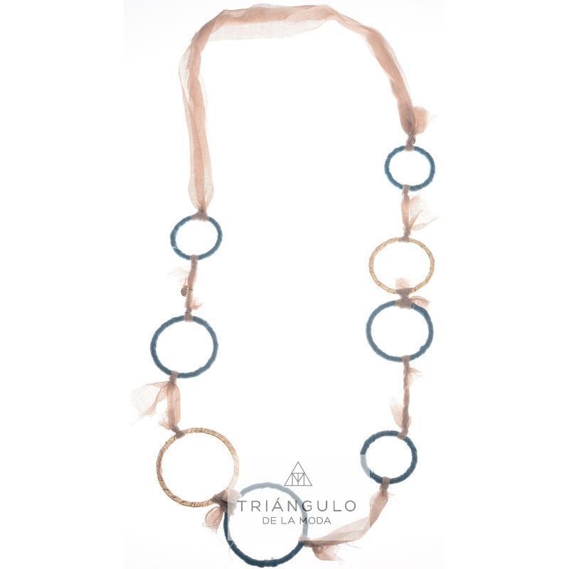 Tienda online del Triangulo de la Moda Collar Largo Anillas Forradas