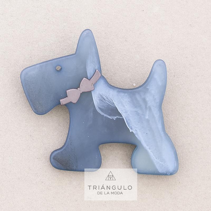 Tienda online del Triangulo de la Moda Broche perrito resina