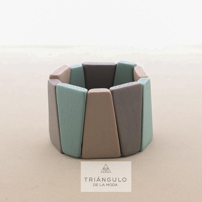 Tienda online del Triangulo de la Moda Pulsera elastica cuentas madera