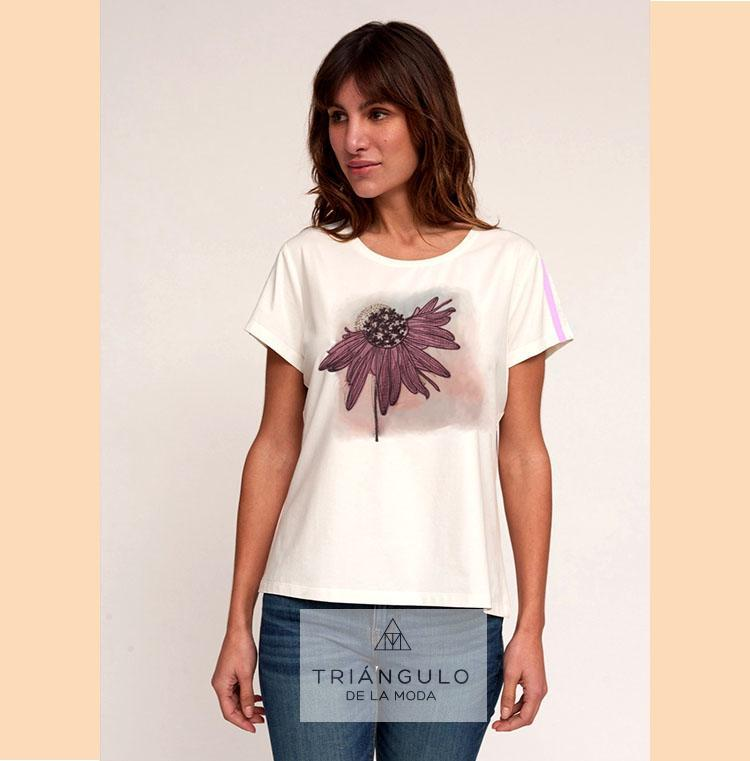 Tienda online del Triangulo de la Moda Camiseta FLOR