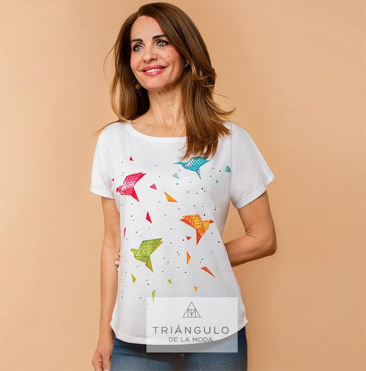 Tienda online del Triangulo de la Moda Camiseta PAJAROS
