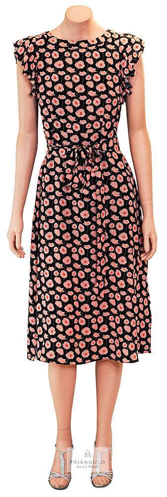 Tienda online del Triangulo de la Moda Vestido estampado en tejido seda