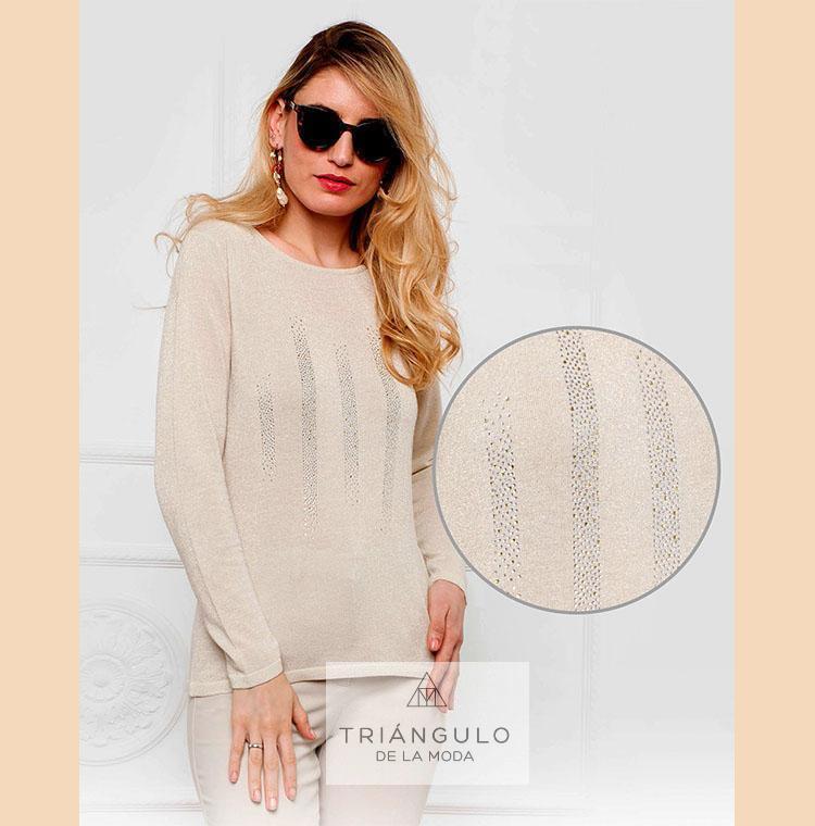 Tienda online del Triangulo de la Moda Jersey rayas STRASS