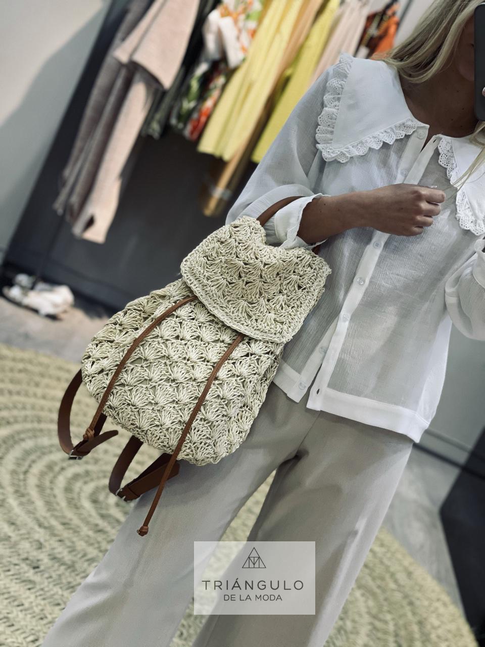 Tienda online del Triangulo de la Moda Mochila Rafia