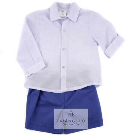 Tienda online del Triangulo de la Moda conjunto niño camisa labrada