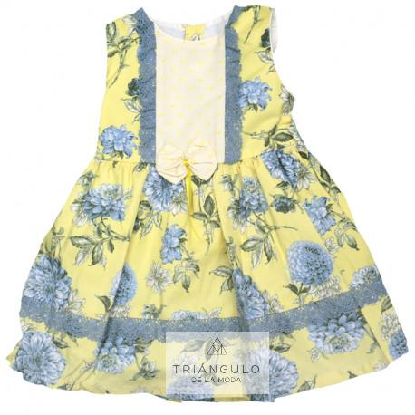Tienda online del Triangulo de la Moda Vestido infantil flores grandes