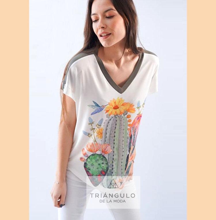 Tienda online del Triangulo de la Moda Camiseta CACTUS