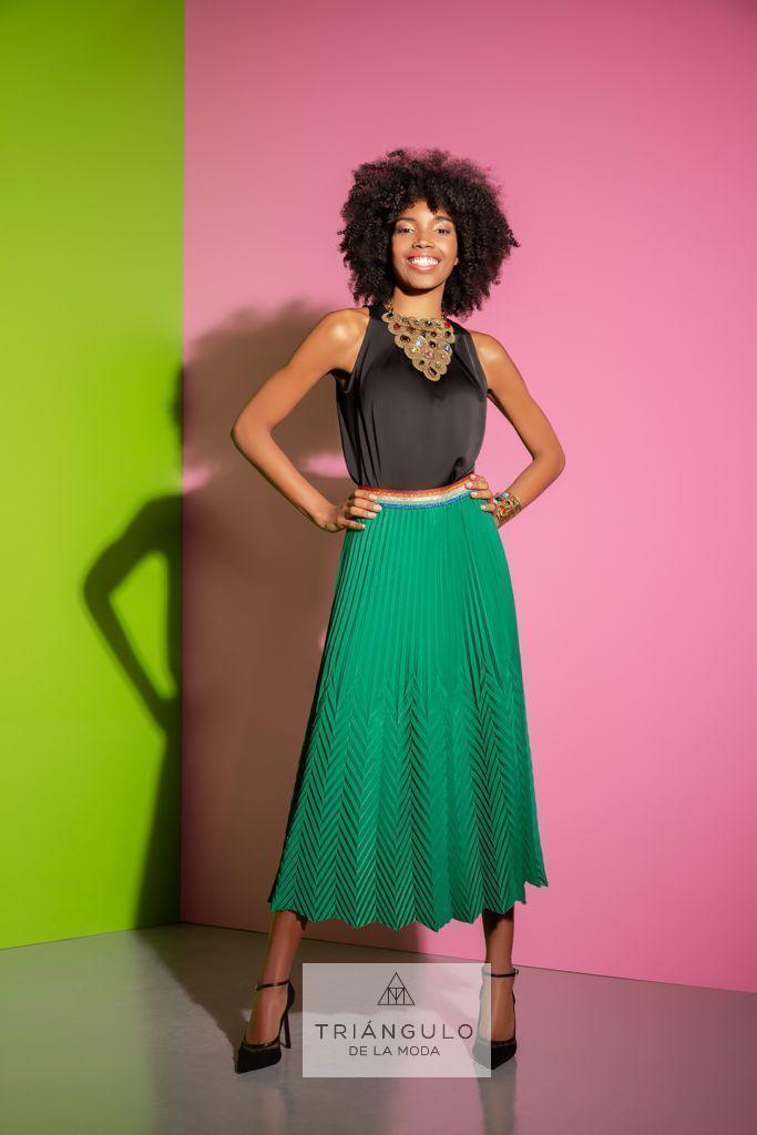 Tienda online del Triangulo de la Moda Falda plisada