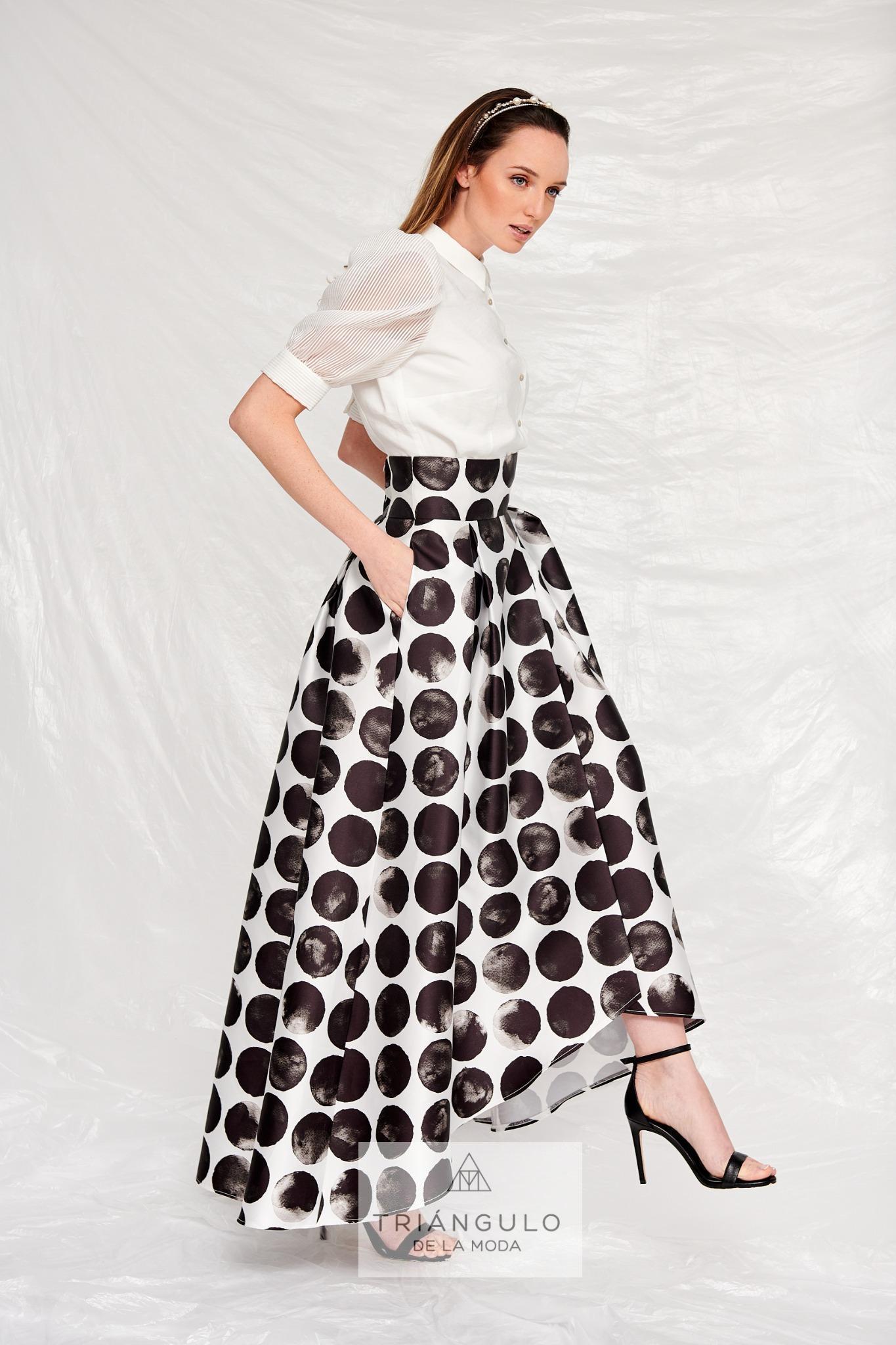 Tienda online del Triangulo de la Moda Falda larga tafetán
