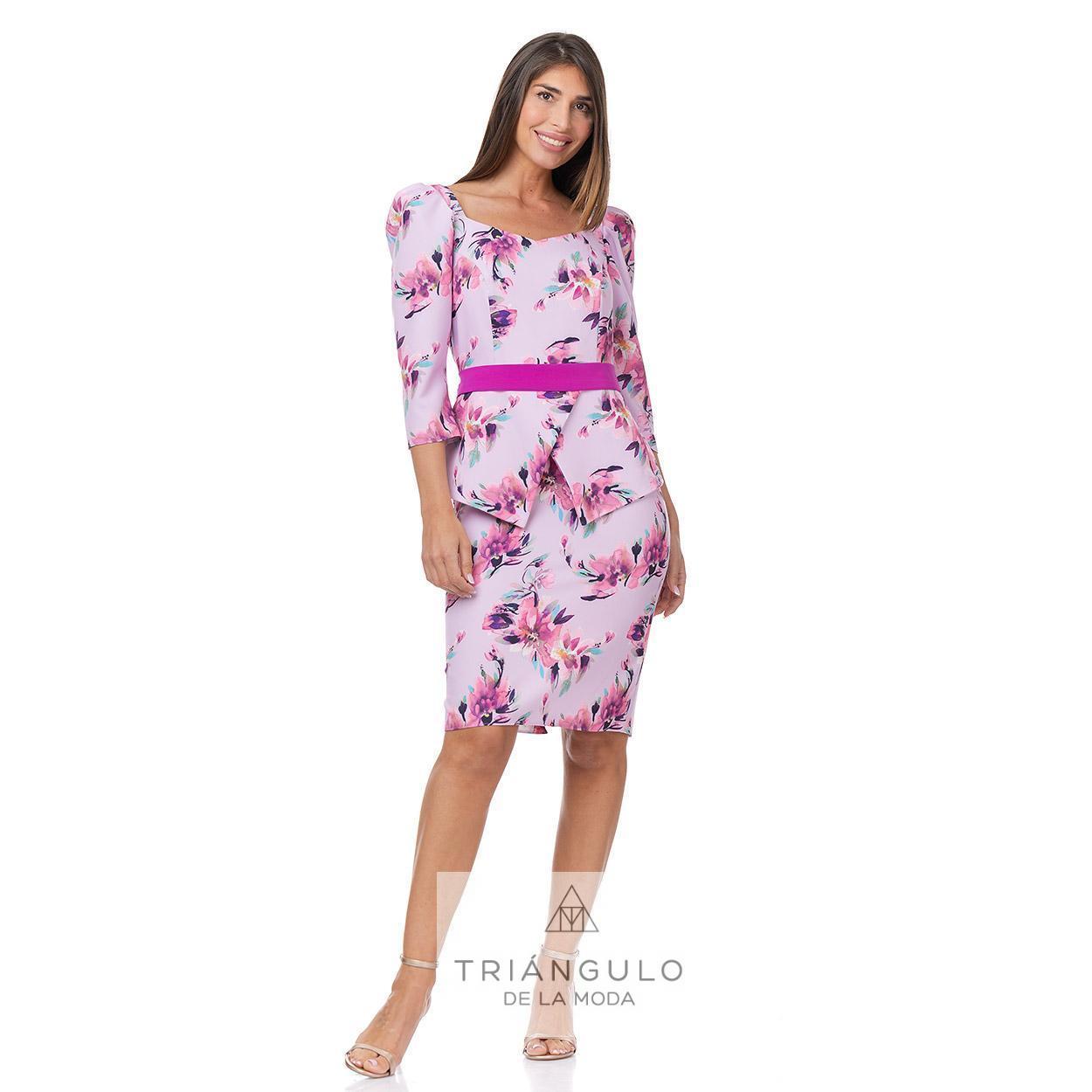 Tienda online del Triangulo de la Moda VESTIDO SORTH ESTAMPADO MANGAS